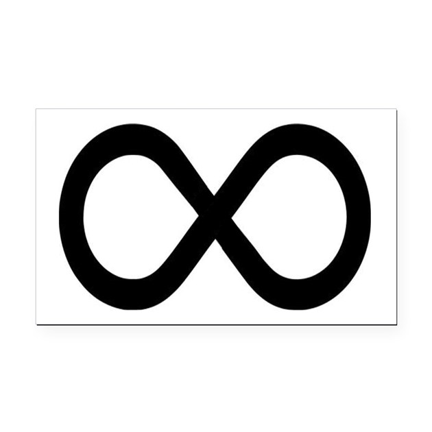 Infinity Symbol Math Notation Rectangle Car Magnet By Teeshirtshoppe