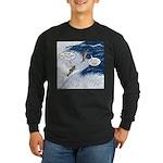 Salmon Run Long Sleeve Dark T-Shirt