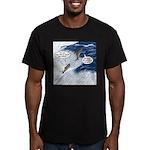Salmon Run Men's Fitted T-Shirt (dark)