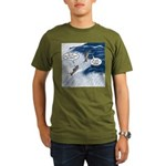 Salmon Run Organic Men's T-Shirt (dark)