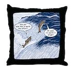 Salmon Run Throw Pillow