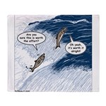 Salmon Run Throw Blanket