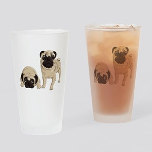 Pugs Drinking Glass