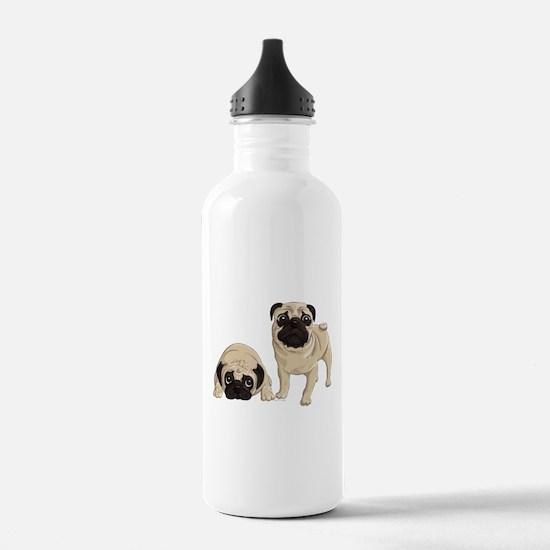 Pugs Water Bottle