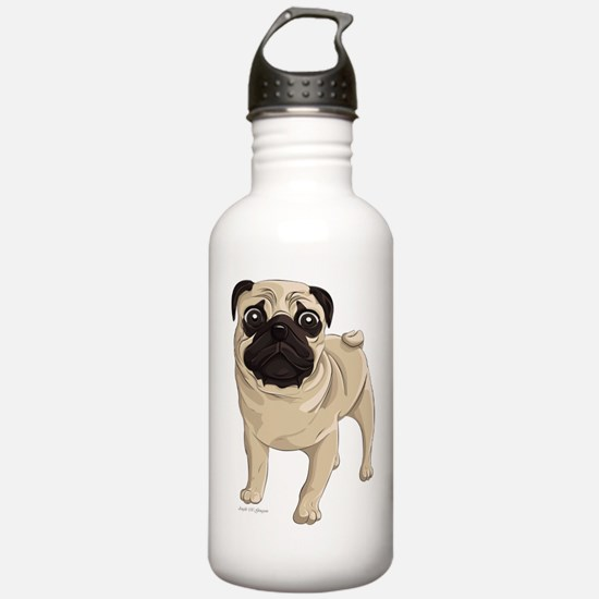 Pug Water Bottle