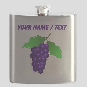 Custom Purple Grapes Flask