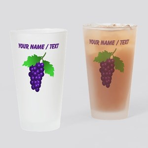 Custom Purple Grapes Drinking Glass