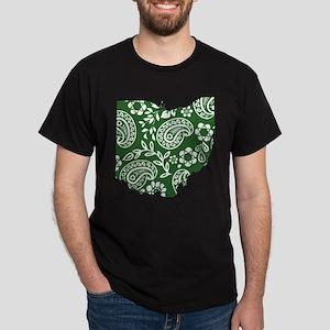 Green Paisley Ohio Dark T-Shirt