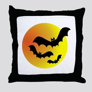 Bat Silhouettes Throw Pillow