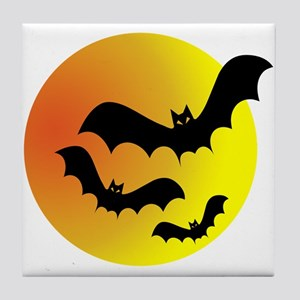 Bat Silhouettes Tile Coaster