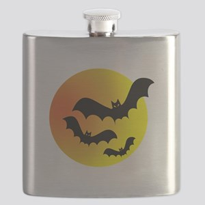 Bat Silhouettes Flask