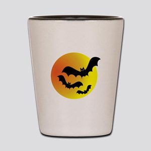 Bat Silhouettes Shot Glass