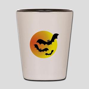 Bat Silhouettes Shot Glass