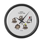 Asp Family Large Wall Clock