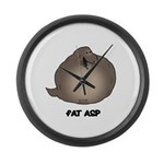 Fat Asp Large Wall Clock