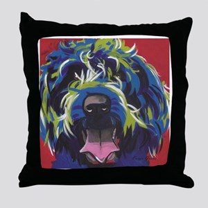 Red Blue & Lime Wire Hair Griffon  Throw Pillow