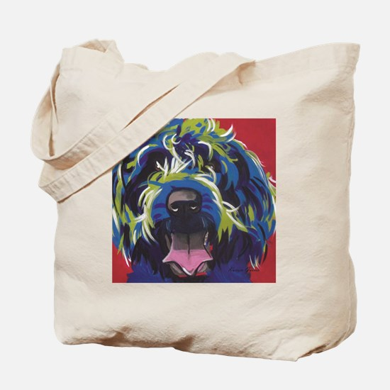 Red Blue & Lime Wire Hair Griffon  Tote Bag