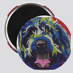 Red Blue & Lime Wire Hair Griffon  Magnet