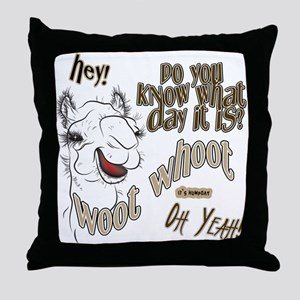 Hump Day OhYeah Camel Throw Pillow