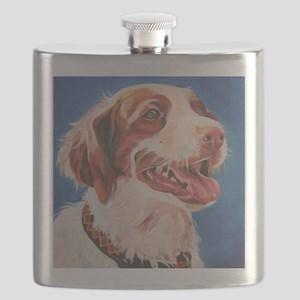 Brittany Spaniel - Red Flask