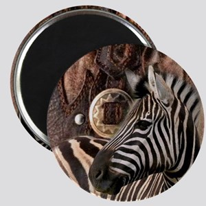 wild zebra safari Magnet