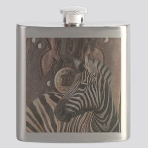 wild zebra safari Flask