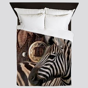 wild zebra safari Queen Duvet