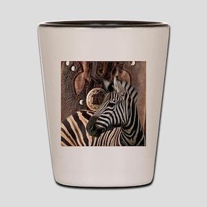 wild zebra safari Shot Glass