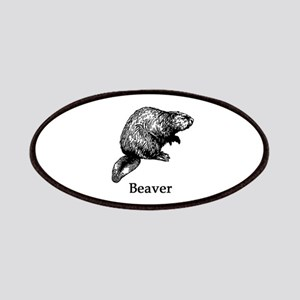 Beaver (line art) Patches