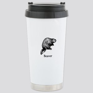 Beaver (line art) Travel Mug