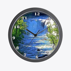 Little River Falls Wall Clock