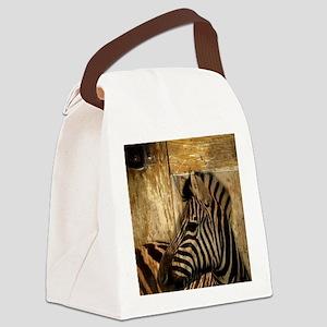 wild zebra safari Canvas Lunch Bag