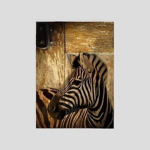 wild zebra safari 5'x7'Area Rug