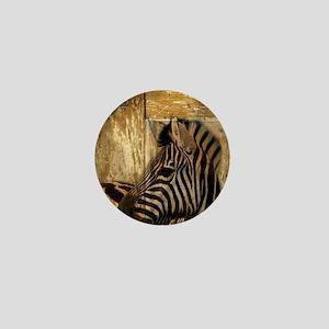 wild zebra safari Mini Button