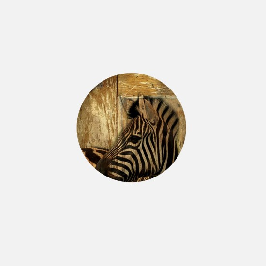 wild zebra safari Mini Button