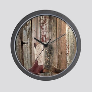 country cowboy boots Wall Clock