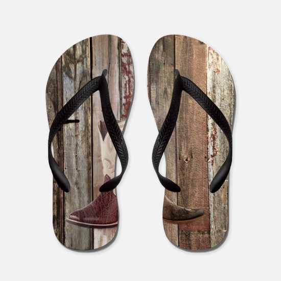 country cowboy boots Flip Flops