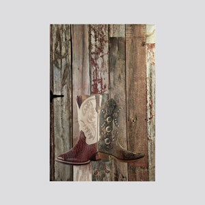 country cowboy boots Rectangle Magnet
