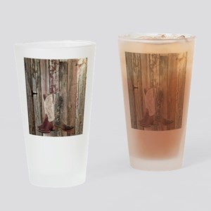 country cowboy boots Drinking Glass