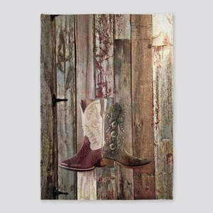 country cowboy boots 5'x7'Area Rug