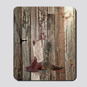 country cowboy boots Mousepad