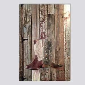 country cowboy boots Postcards (Package of 8)
