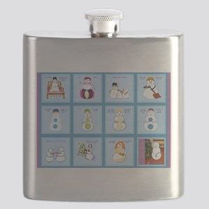 Snow Folks 5x7 Flask