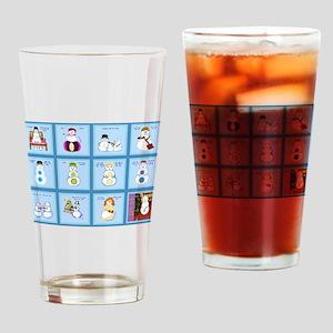 Snow Folks 5x7 Drinking Glass