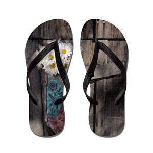 bc2afe38f Barn Wedding Flip Flops - CafePress