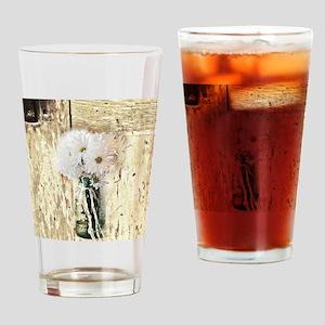 country daisy mason jar Drinking Glass