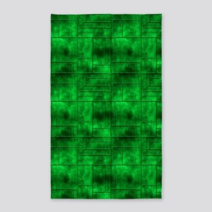 Industrial Green Metal 3'x5' Area Rug