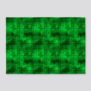 Industrial Green Metal 5'x7'Area Rug