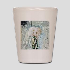 country daisy mason jar Shot Glass