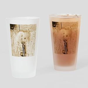 country daisy nostalgia Drinking Glass